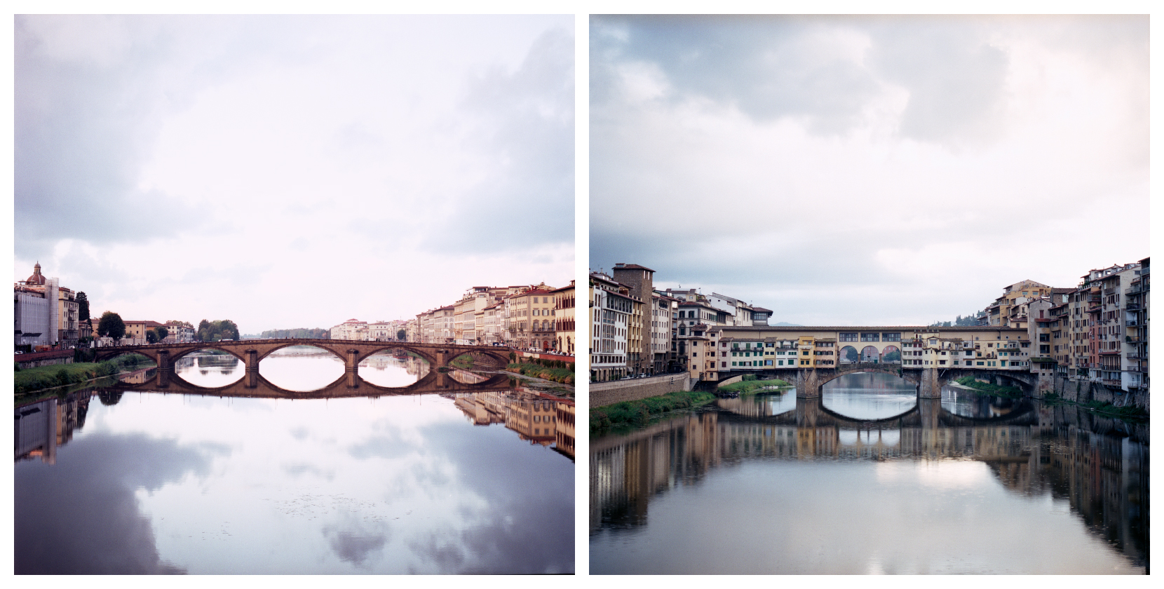 Ponte alla Carraia und Ponte Vecchio, Hasselblad 500 C/M, Carl Zeiss Planar 2.8/80 CF, Fujifilm Pro 400 H, Epson Scan